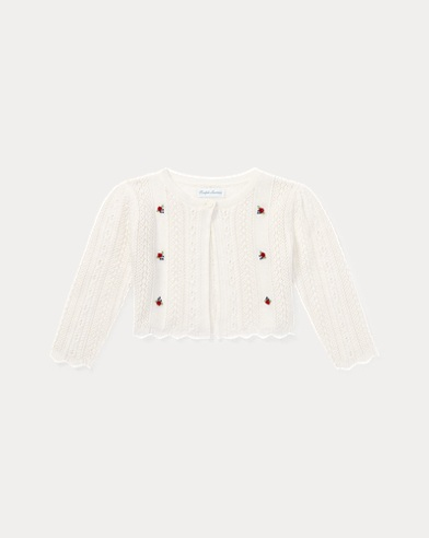 Embroidered Pointelle Shrug