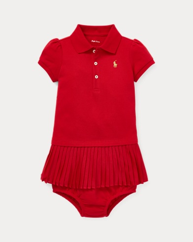 Pleated Polo Dress & Bloomer