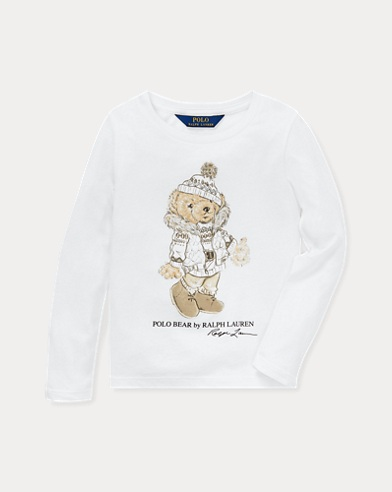 Baumwoll-T-Shirt mit Holiday Bear
