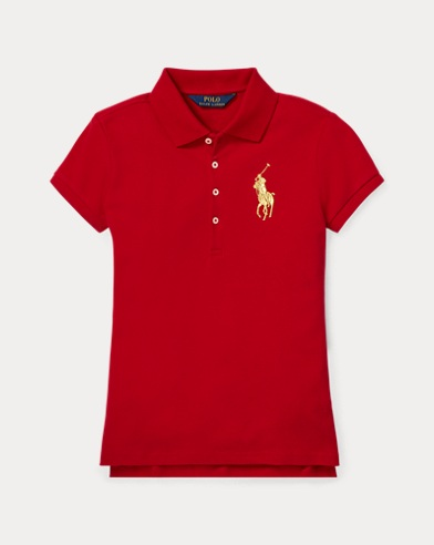 Polo Big Pony in piqué stretch