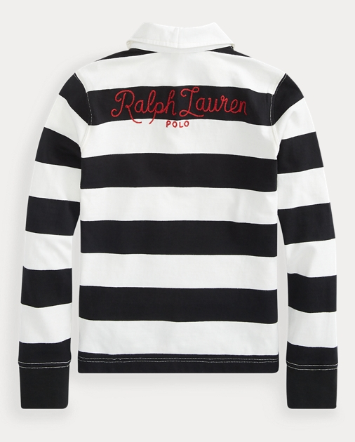 e4e41baf1f1 produt-image-1.0. Kids Girls Polo Shirts Striped Cotton Jersey Rugby