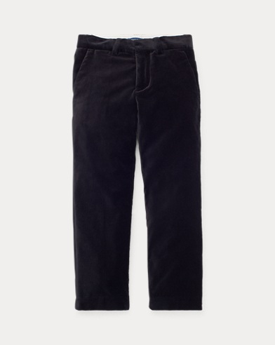 Slim Fit Stretch Velvet Trouser