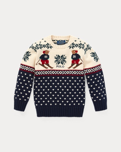 Ski Bear Cotton-Merino Jumper