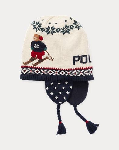 Bonnet de ski ourson à rabats