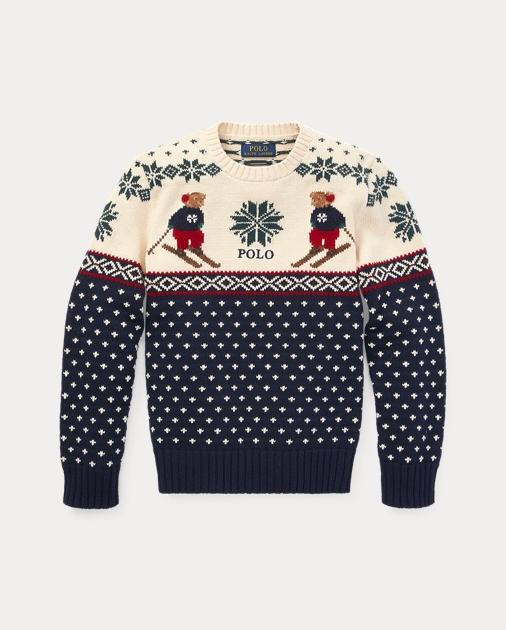 Ski Cotton Merino Sweater Bear lJcK1TF