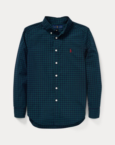 Plaid Cotton Poplin Shirt