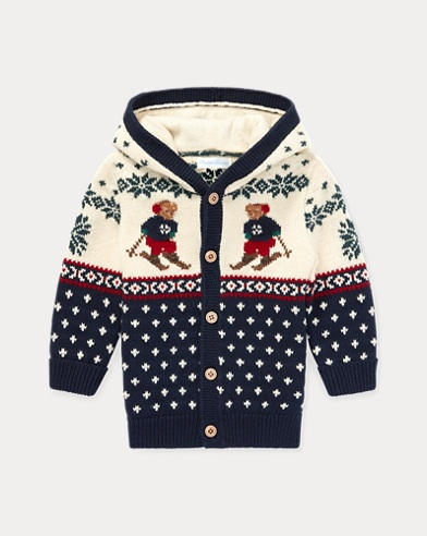 Cardigan in cotone e lana Ski Bear