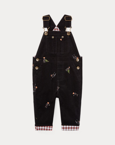 Holiday Bear Corduroy Overall