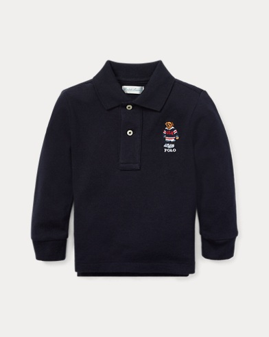 Hockey Bear Cotton Mesh Polo