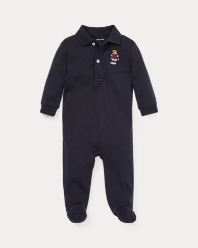 Hockey Bear Cotton Coverall