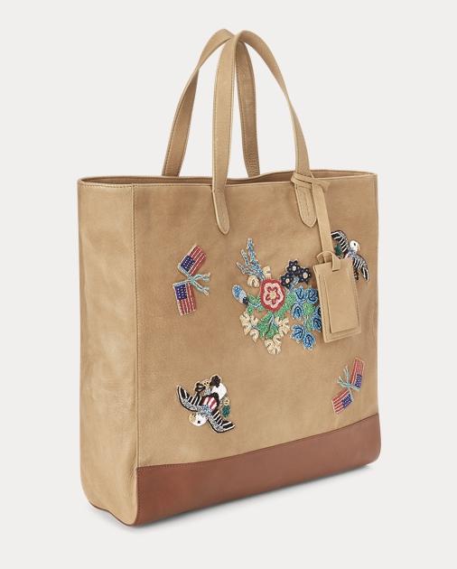 produt-image-1.0. produt-image-2.0. produt-image-3.0. Women Accessories  Handbags Beaded Deerskin Large Tote Bag. Polo Ralph Lauren f822fcfb3c319