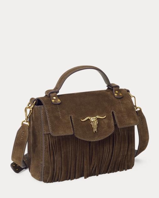 d4414d6422 Suede Small Fringe Schooly Bag