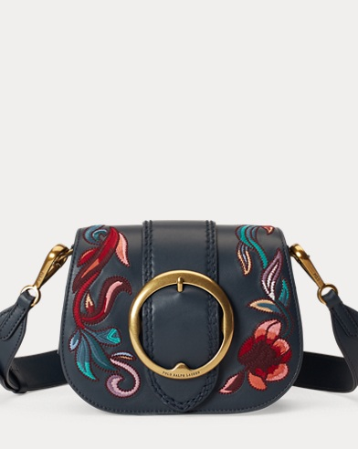 Embroidered Leather Lennox Bag