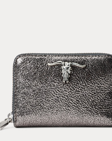 Metallic Steer-Head Wallet