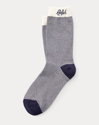 Script Cotton-Blend Socks