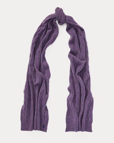 Wool-Cashmere Oblong Scarf