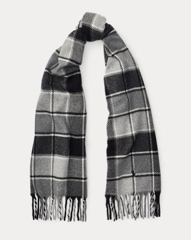 Bufanda de cachemira y lana con flecos