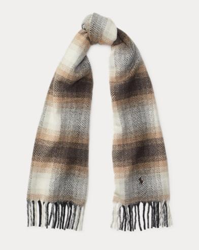 Fringe Wool-Cashmere Scarf