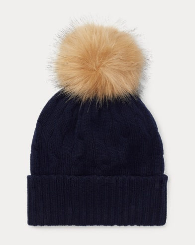 Cable Cashmere Pom-Pom Hat
