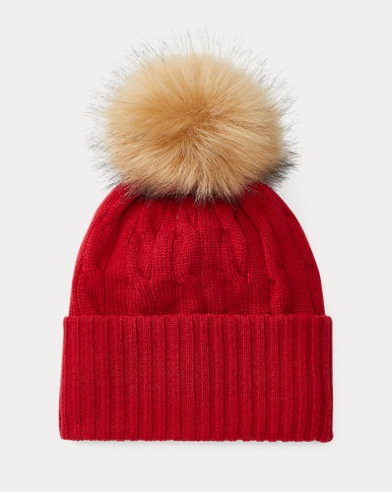 Cable Cashmere Pom-Pom Hat