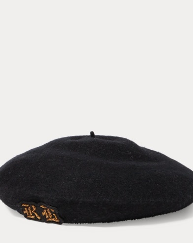 Embroidered Wool Beret