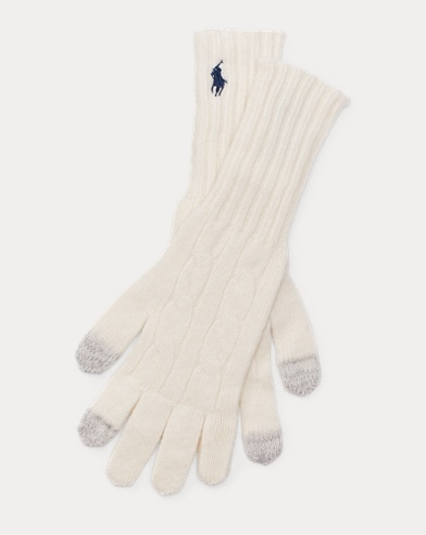 Cable Cashmere-Blend Gloves