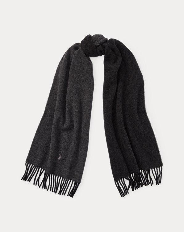 Sciarpa in lana con frange