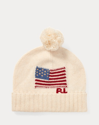 Flag Wool Pom-Pom Hat