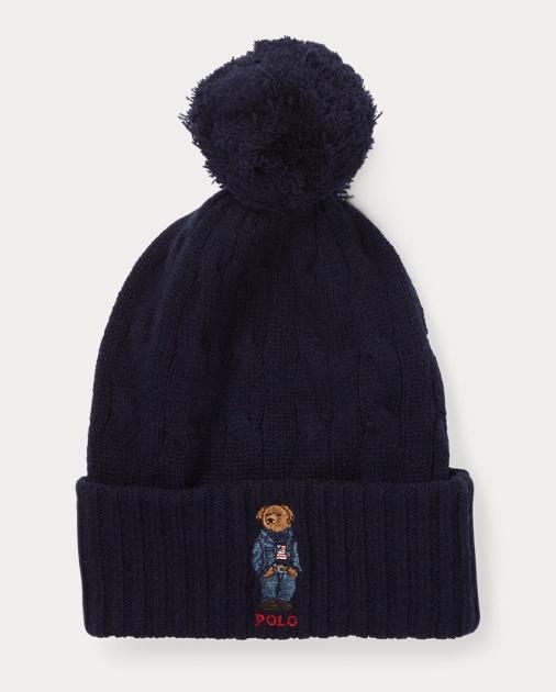 75419919f990 Bonnet Polo Bear à pompon