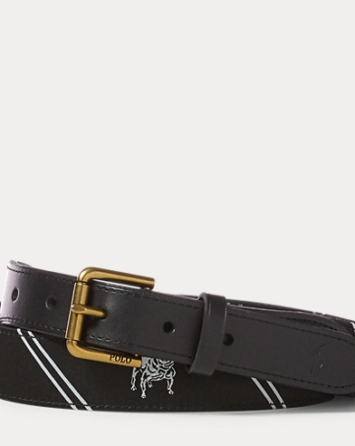 Bulldog-Overlay Webbed Belt