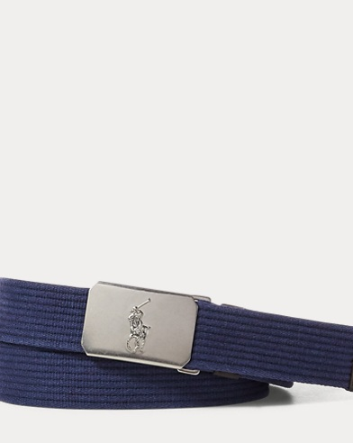Plaque-Buckle Cotton Belt