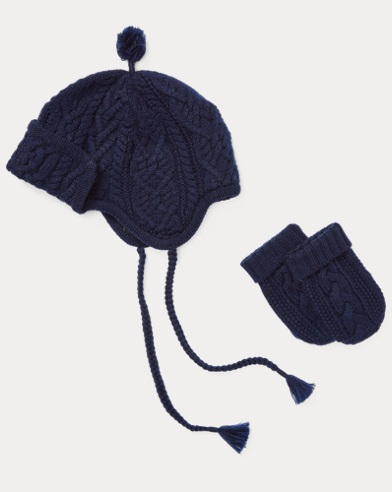 Wool Hat & Mittens Set