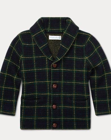 Tartan Merino Wool Cardigan
