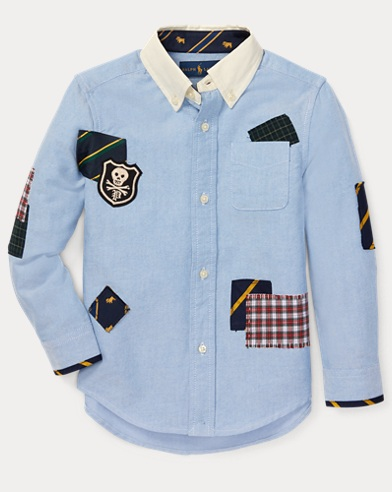Patchwork Cotton Oxford Shirt