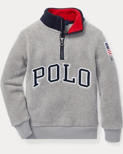 Fleece Mockneck Pullover