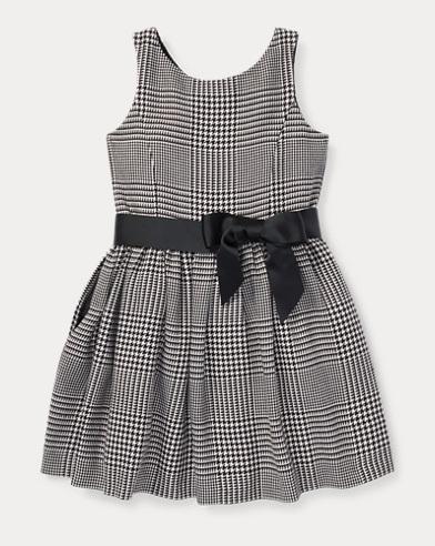 Glen Plaid Cotton Dress