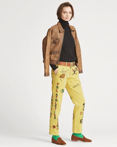 Painted Corduroy Pant