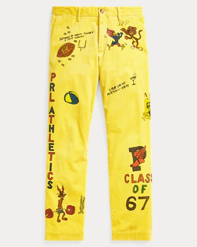Painted Corduroy Trouser
