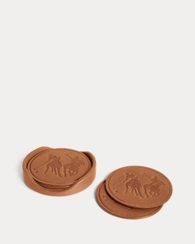 Garrett Leather Coaster Set