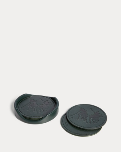 Garrett Leather Coaster Set