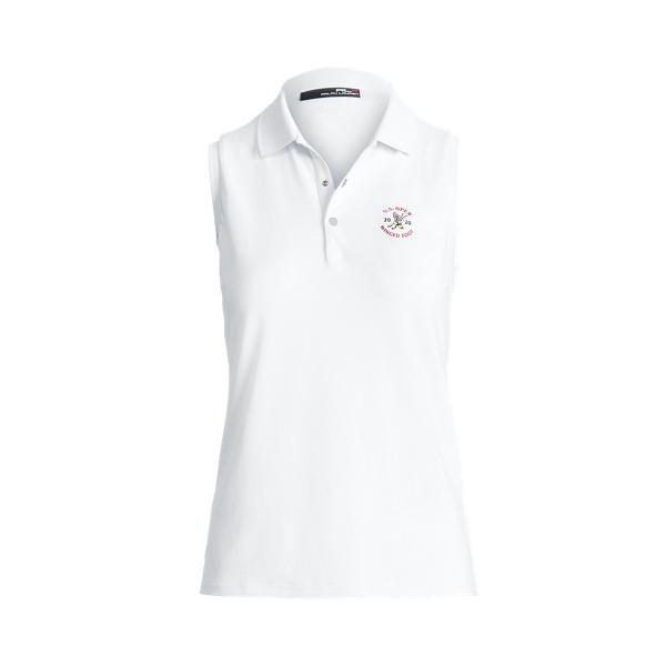 폴로 랄프로렌 RLX 골프 우먼 민소매 폴로 셔츠 Polo Ralph Lauren Classic Fit Golf Polo Shirt,Pure White