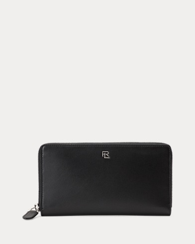 Calfskin Zip Wallet