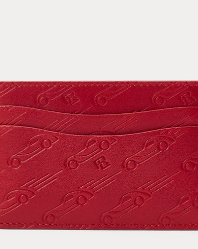 Printed Leather Card Case