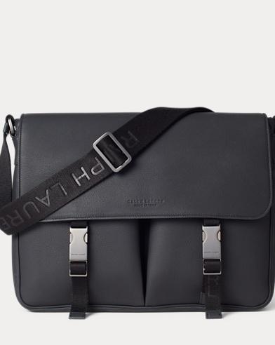 Tumbled Calfskin Messenger Bag