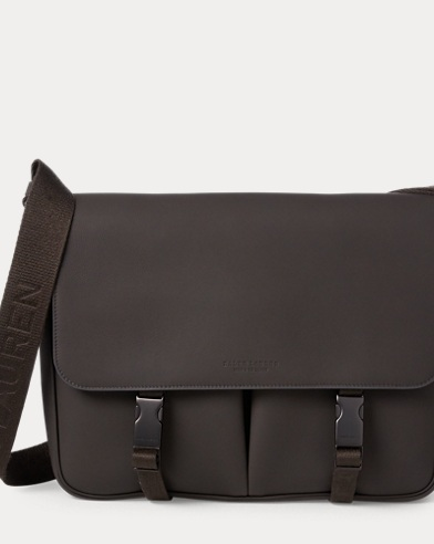 Tumbled Calfskin Messenger Bag