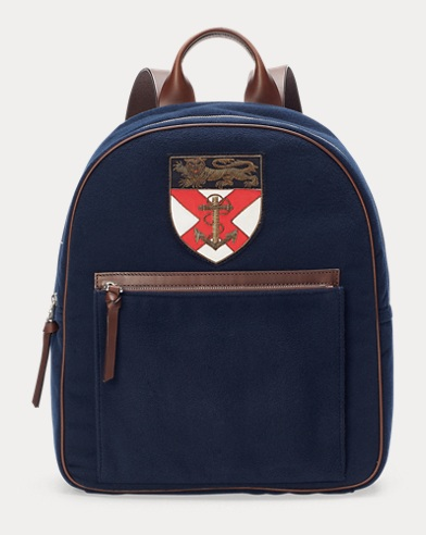 Crest Flannel Backpack