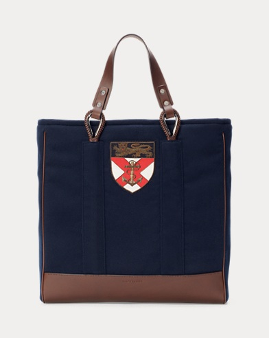 Crest Flannel Tote