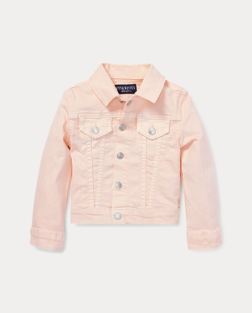 Pink Pony Denim Trucker Jacket
