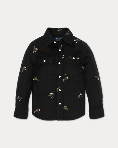 Polo Bear Cotton Flannel Shirt