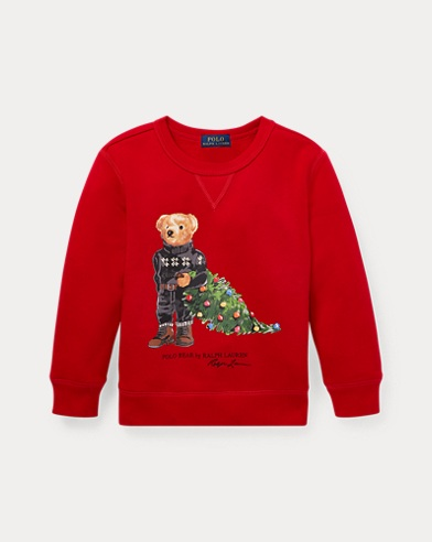 Holiday Bear Fleece Sweatshirt